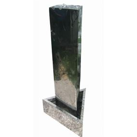 Large Stainless Steel Triangular Column Water Feature