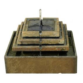 Slate Tiered Fountain Water Feature