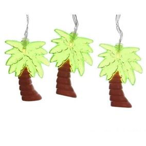 10 Battery Powered Novelty Palm Tree LED Lights