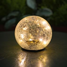 Ice Crackle Ball Table Light with Colour Changing Function