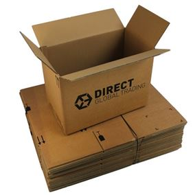 10 Large Strong Cardboard Boxes Ideal for Storage and House Moving (Double Walled)