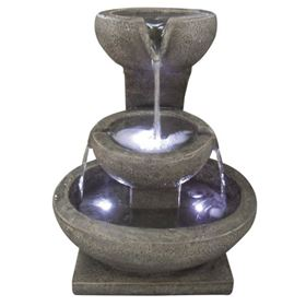 3 Granite Bowl Water Feature with LED Lights