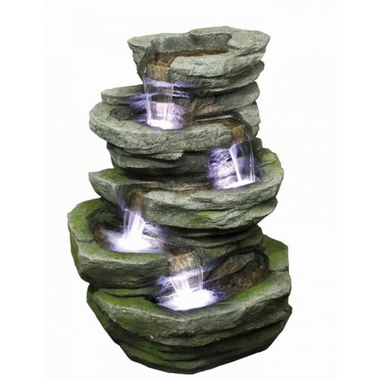 additional image for 4 Fall Slate Water Feature with LED Lights