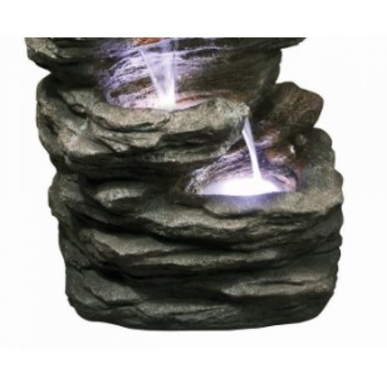 additional image for 6 Fall Slate Water Feature with LED Lights
