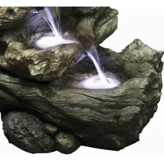 additional image for 4 Fall Driftwood Water Feature with LED Lights