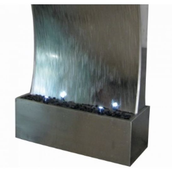 additional image for 3 Metre Mumbai Giant Stainless Steel Water Feature Wall with LED Lights