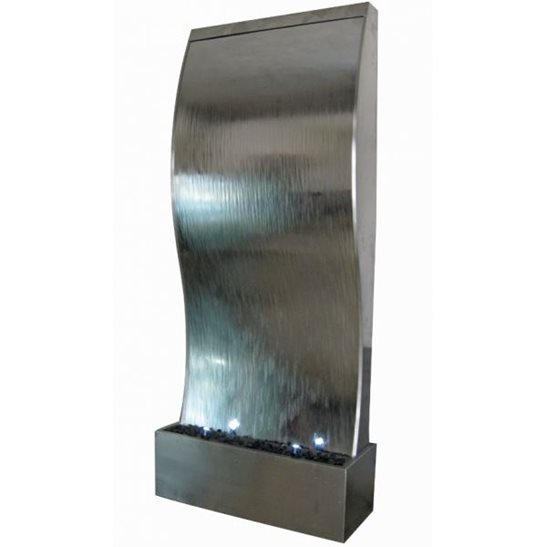 3 Metre Mumbai Giant Stainless Steel Water Feature Wall with LED Lights