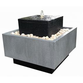 Rimini Zinc Metal & Granite Water Feature