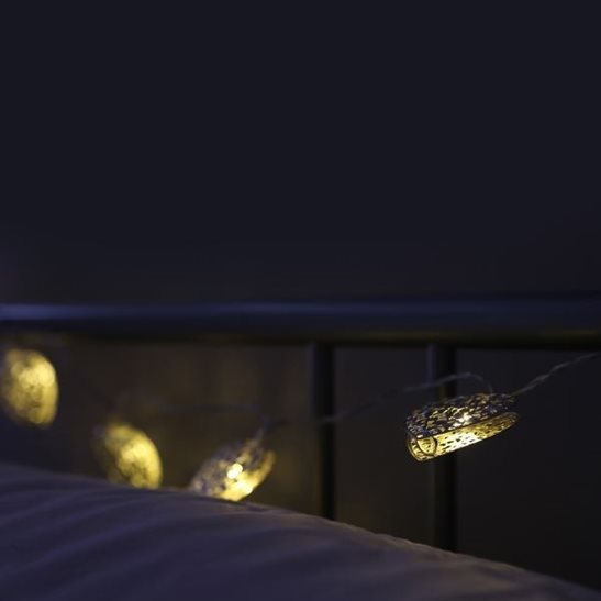 10 Heart Shaped LED Battery String Lights
