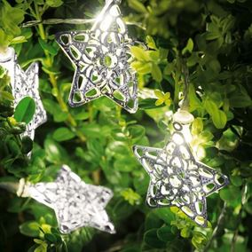 10 Star Shaped LED Battery String Lights