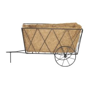 Metal Hay Cart Garden Planter