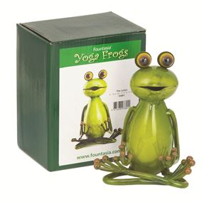 The Lotus Sitting Yoga Frog Garden Ornament