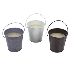 Citronella Candle In Embossed Pot (Triple Pack)