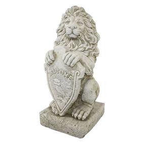 Welcome Lion Stone Garden Ornament