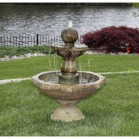 Opal Octagonal Fountain Cast Stone Water Feature