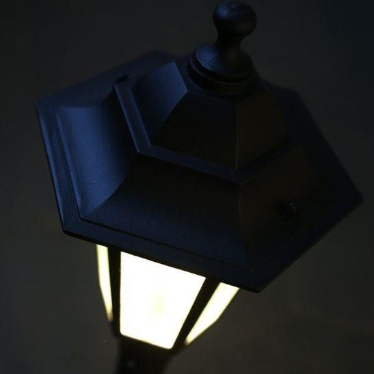 Low Voltage Indoor Lighting Systems: 12V LED 214cm Black Triple Garden Lampost (Low Voltage