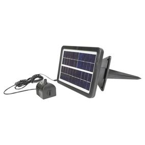 250 LPH Solar Powered Water Feature Pump Kit with Battery Back Up
