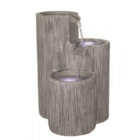 3 Bowl Textured Granite Water Feature (Solar Powered)