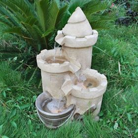 Sand Castle With Tin Bucket Water Feature