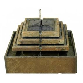 Slate Tiered Fountain Water Feature (Battery Powered)
