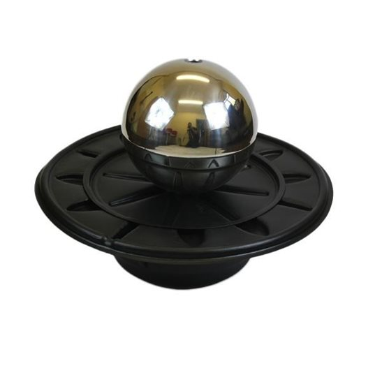62cm Round Black Plastic Water Feature Reservoir