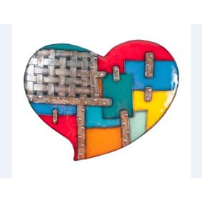 Wall Heart Multi Coloured Novelty Metal Garden Ornament