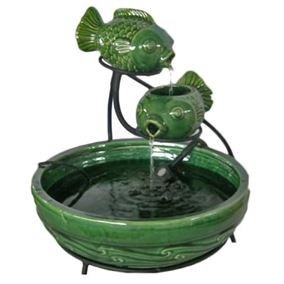 Solar Powered Fish Cascade Water Feature