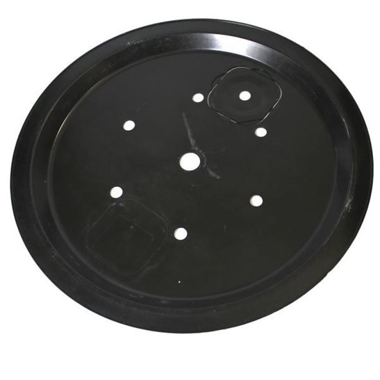 Plastic cover lid for large round pebble pool 112cm for Plastik pool rund