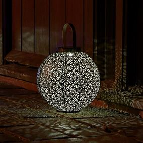 African Style Solar Powered Lantern Garden Light