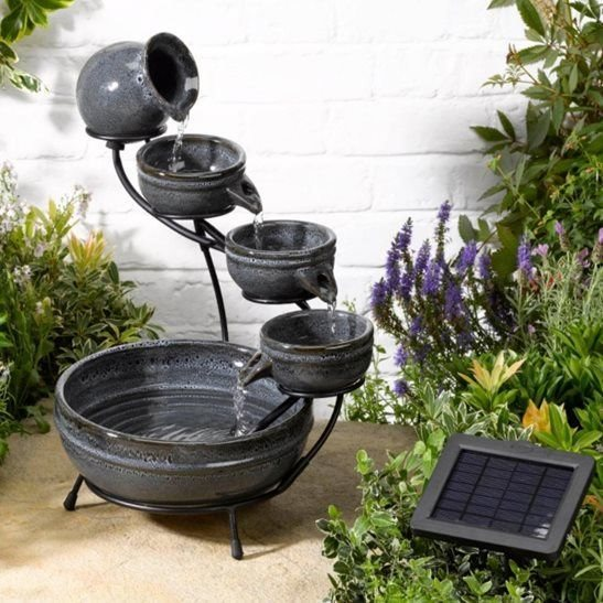 Aphrodite Ceramic Solar Cascade Water Feature