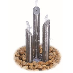 The Avon Stainless Steel Water Feature Polished Finish