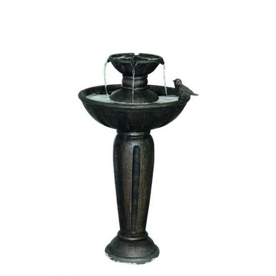 additional image for Solar Powered 4 Drop on Pillar Water Feature