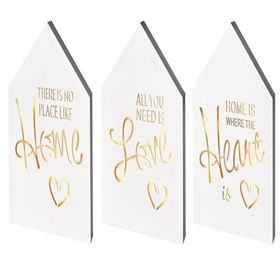 Beautiful Message Lit White Wooden Sign (Battery Powered)