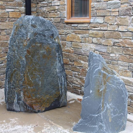 additional image for 7ft Drilled Natural Slate Monolith