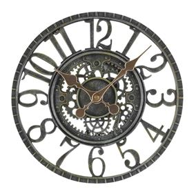 Battery Powered Newby Mechanical Garden Wall Clock