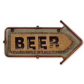 Beer Arrow Garden and Home Wall Art