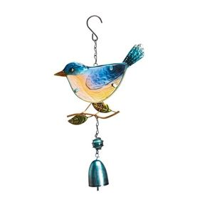 Colourful Hanging Blue Tit Bird Garden Wind Chime