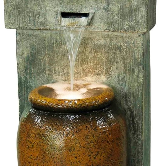 additional image for Cascading Urn Modern Lit Water Feature