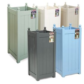 Classic Painted Tall Garden Planter with Free Liner (Various Colours)