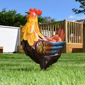 Meadow Metal Garden Rooster