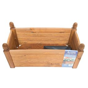 26'' Solid Acorn Trough Beech Stain Wooden Garden Planter