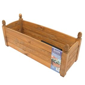 34'' Solid Acorn Trough Beech Stain Wooden Garden Planter