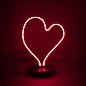 LED Neon Heart Light Battery Powered