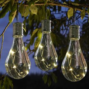 Eureka Solar Powered Retro Lightbulb (6 Pack)
