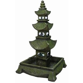 Extra Large Pagoda Lit Water Feature