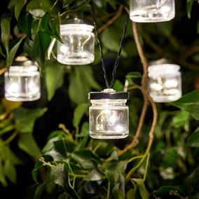 10 Solar Powered Firefly Jars