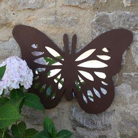 Flutterby Garden Mirror