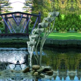 The Forth Pouring Bowls Stainless Steel Water Feature