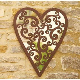 Heart of Hearts Garden Mirror