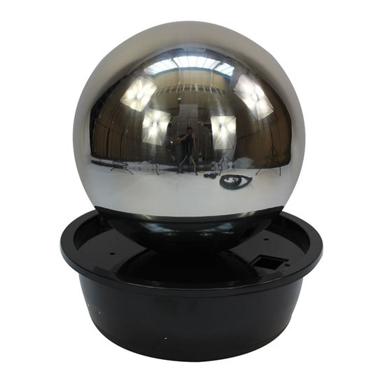 additional image for 50cm Sphere Stainless Steel Water Feature with LED Lights